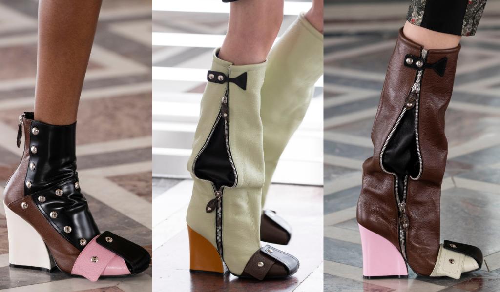 En cuissardes ou bottines, la botte multicolore au talon graphique est le nouvel accessoire star de Louis Vuitton.