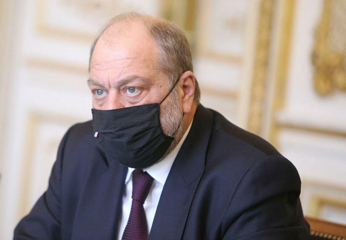 Remise du rapport de la mission Justice économique en présence de Eric Dupond-Moretti Garde des Sceaux et ministre de la Justice au Ministère de la Justice, à Paris, France, le 19 février 2021.