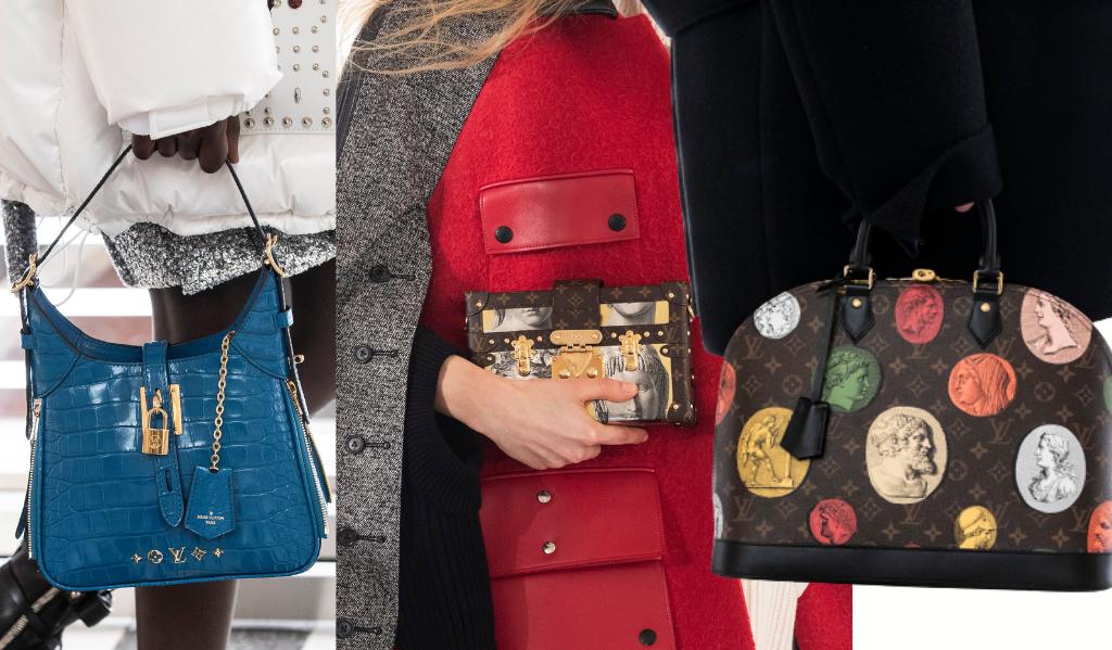 Pour la collection de l'hiver prochain, Louis Vuitton a habillé son monogramme des motifs antiques de son défilé.
