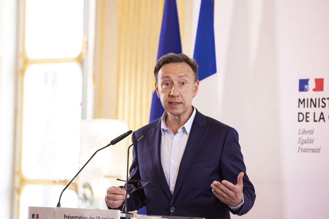 Stéphane Bern - Présentation des 18 projets de la Mission Patrimoine 2020 au ministère de la Culture à Paris le 30 juin 2020.
