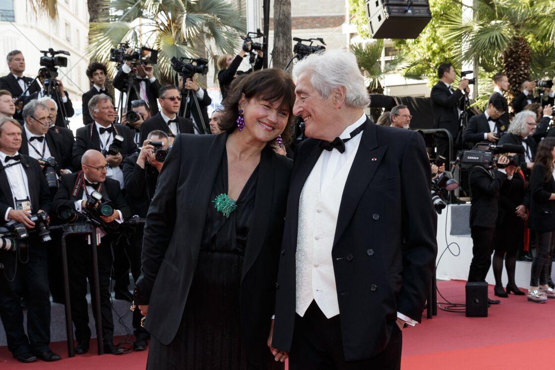 Jean-Loup Dabadie et sa compagne Véronique Bachet au Festival de Cannes le 25 mai 2019