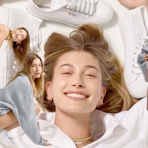 Hailey Bieber, égérie mode: « Superga, c'est un joli clin d'œil à ma lune de miel avec Justin en Italie »