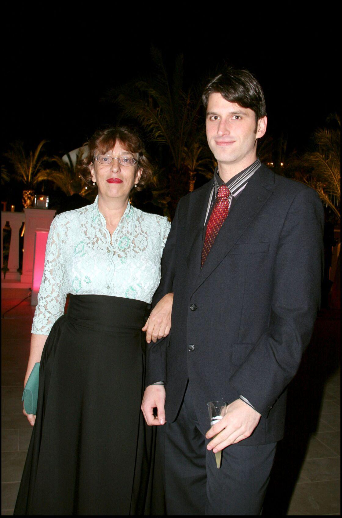 Anémone et son fils Jacob, à Monaco, en 2005.