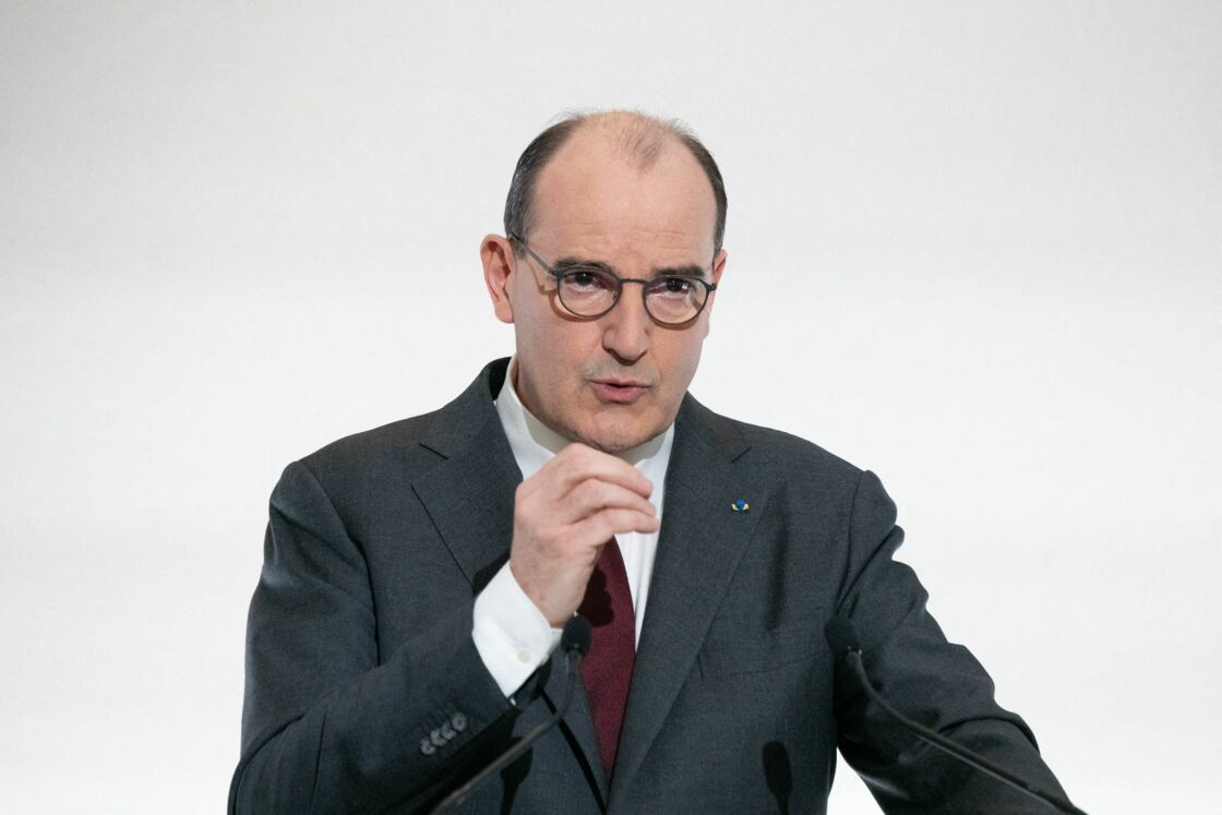 Jean Castex ce jeudi 18 mars lors d'une conférence de presse à l'Élysée