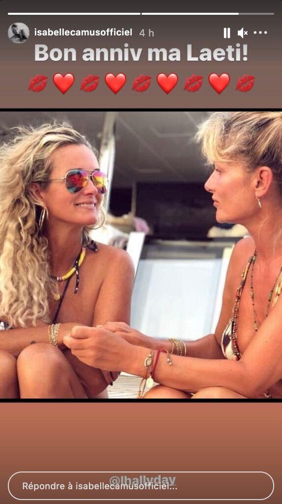 Isabelle Camus poste une photo en compagnie de Laeticia Hallyday pour lui souhaiter un bel anniversaire