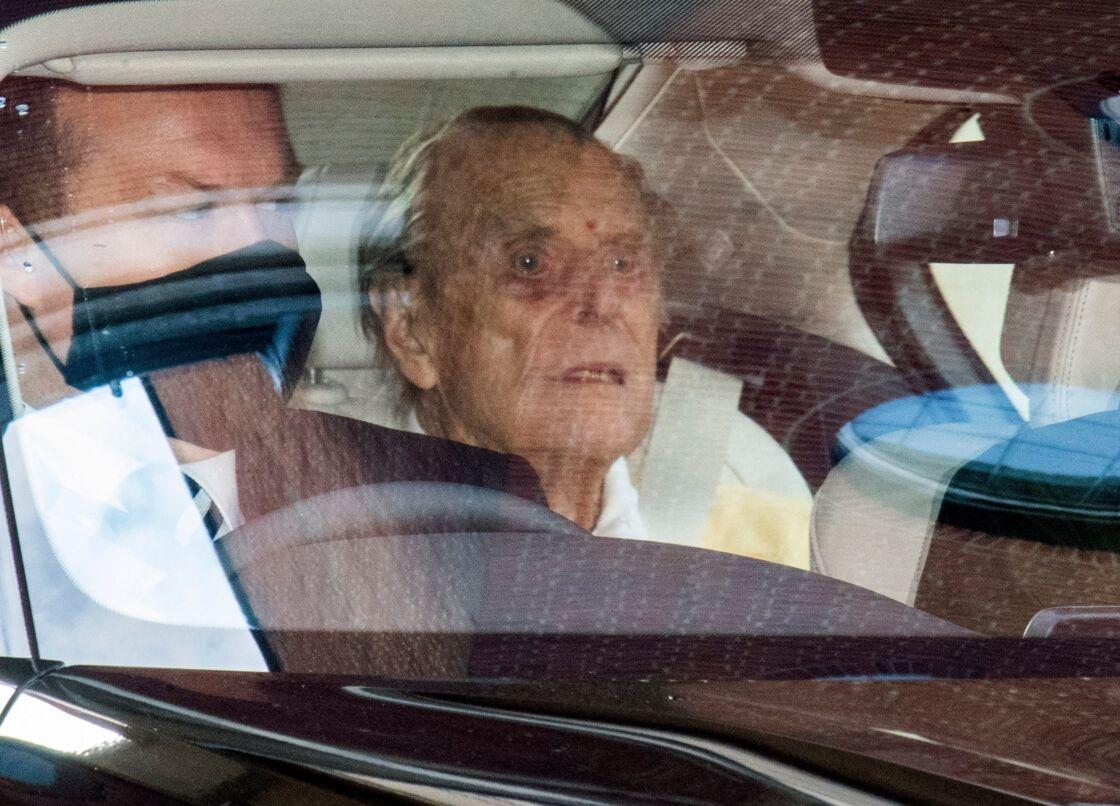 Le prince Philip en route pour le château de Windsor ce mardi 16 mars 2021