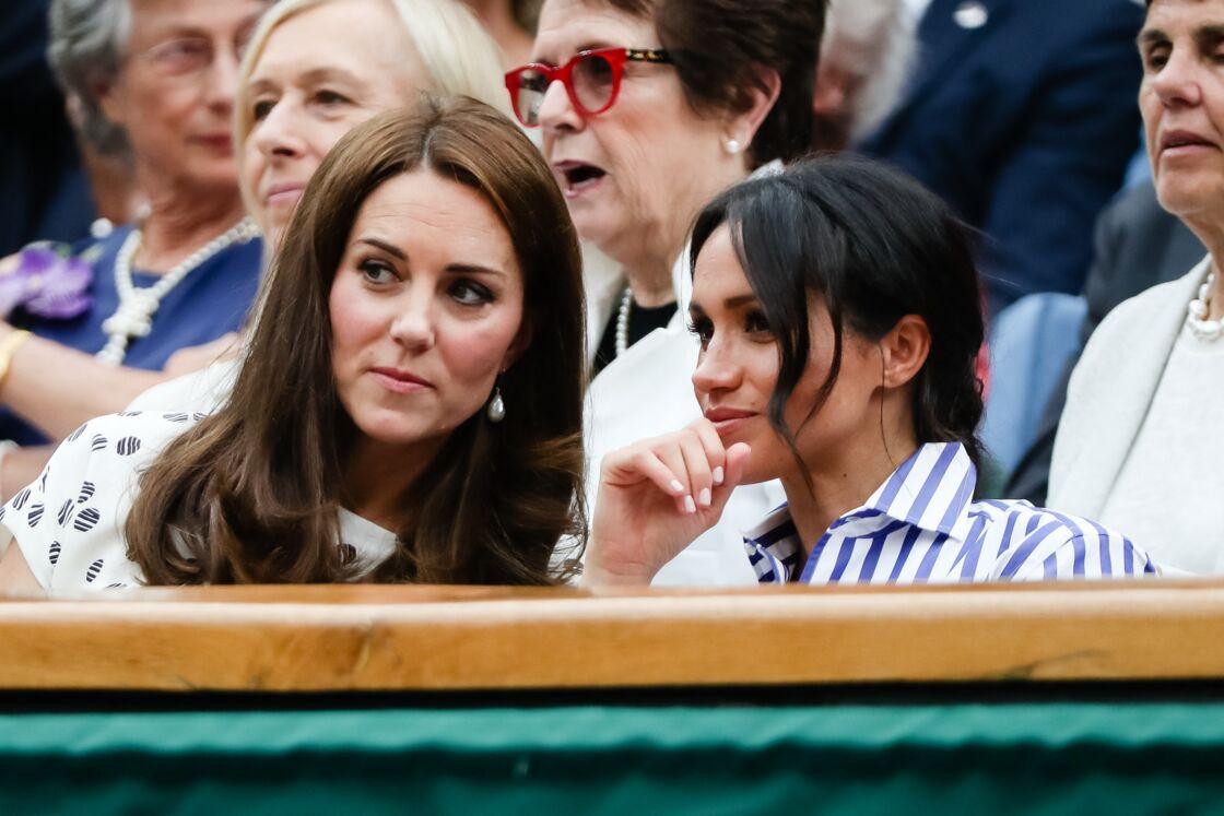 Kate Middleton et Meghan Markle à Wimbledon en 2018