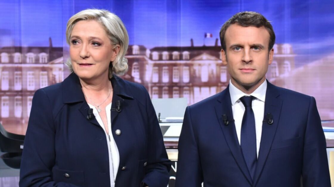 Marine Le Pen et Emmanuel Macron le 3 mai 2017, lors du débat d'entre-deux tours de l'élection présidentielle