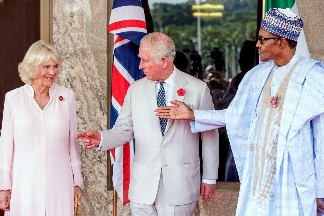 Le prince Charles et son épouse Camilla en visite au Nigeria en 2018.