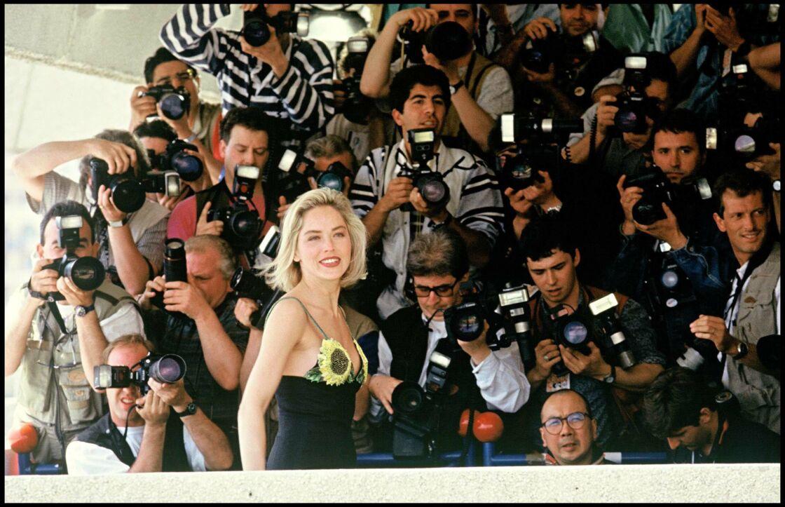 Sharon Stone au festival de Cannes en 1992 pour Basic Instinct