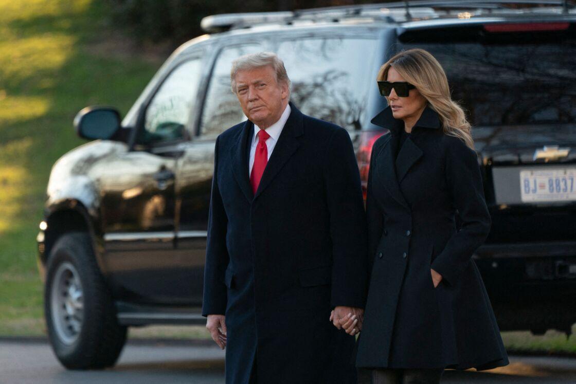 Donald et Melania Trump en décembre 2020 à la Maison Blanche.