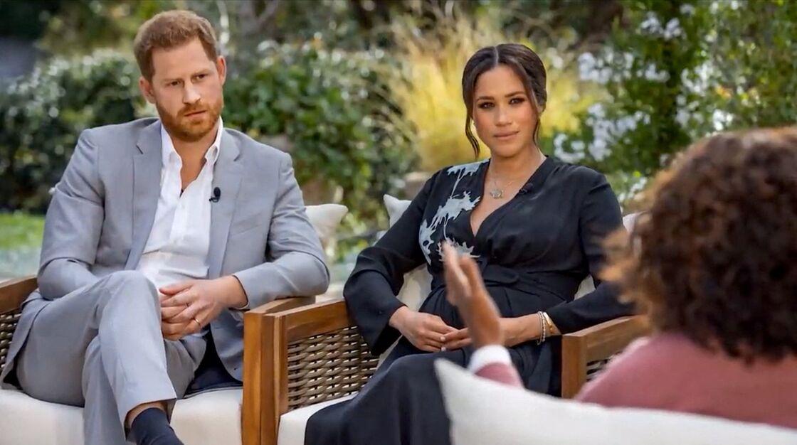 Meghan Markle et le prince Harry face à Oprah Winfrey le 7 mars dernier