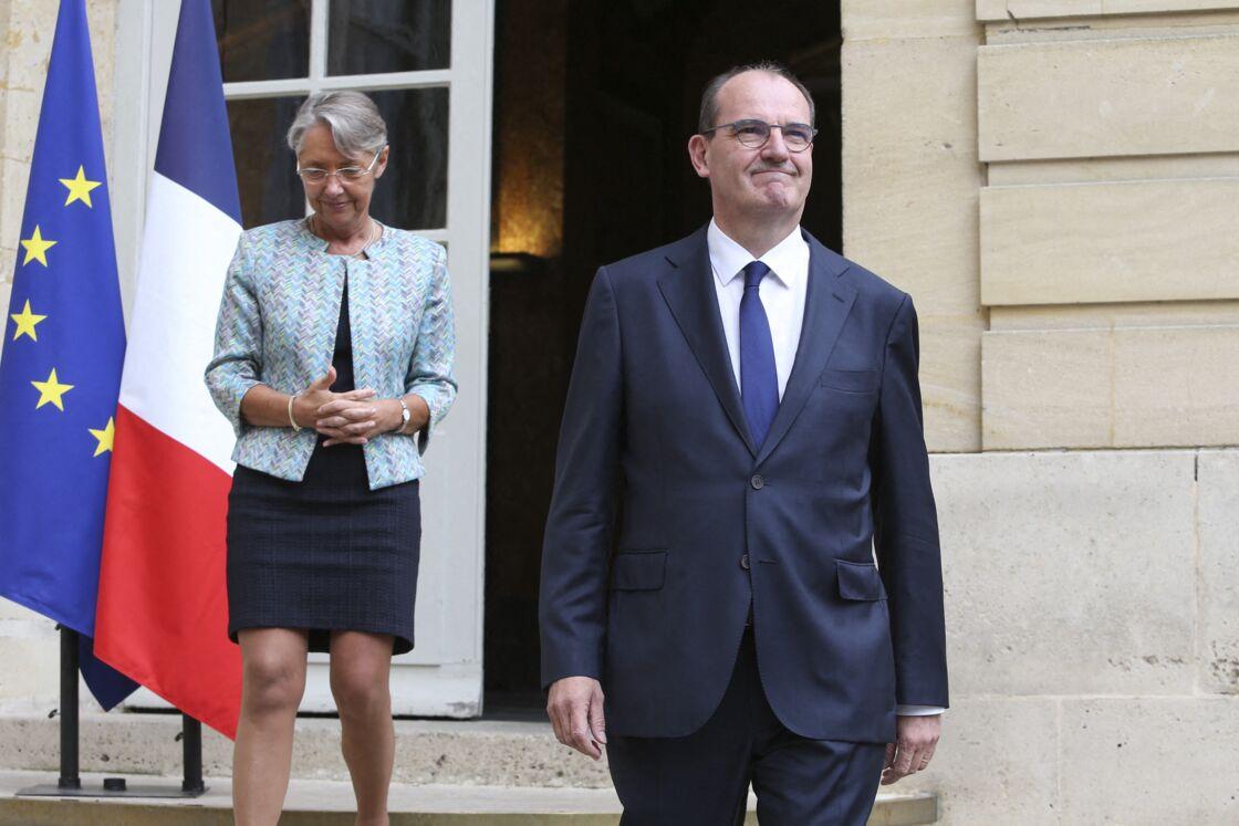Jean Castex et la ministre du Travail, Élisabeth Borne