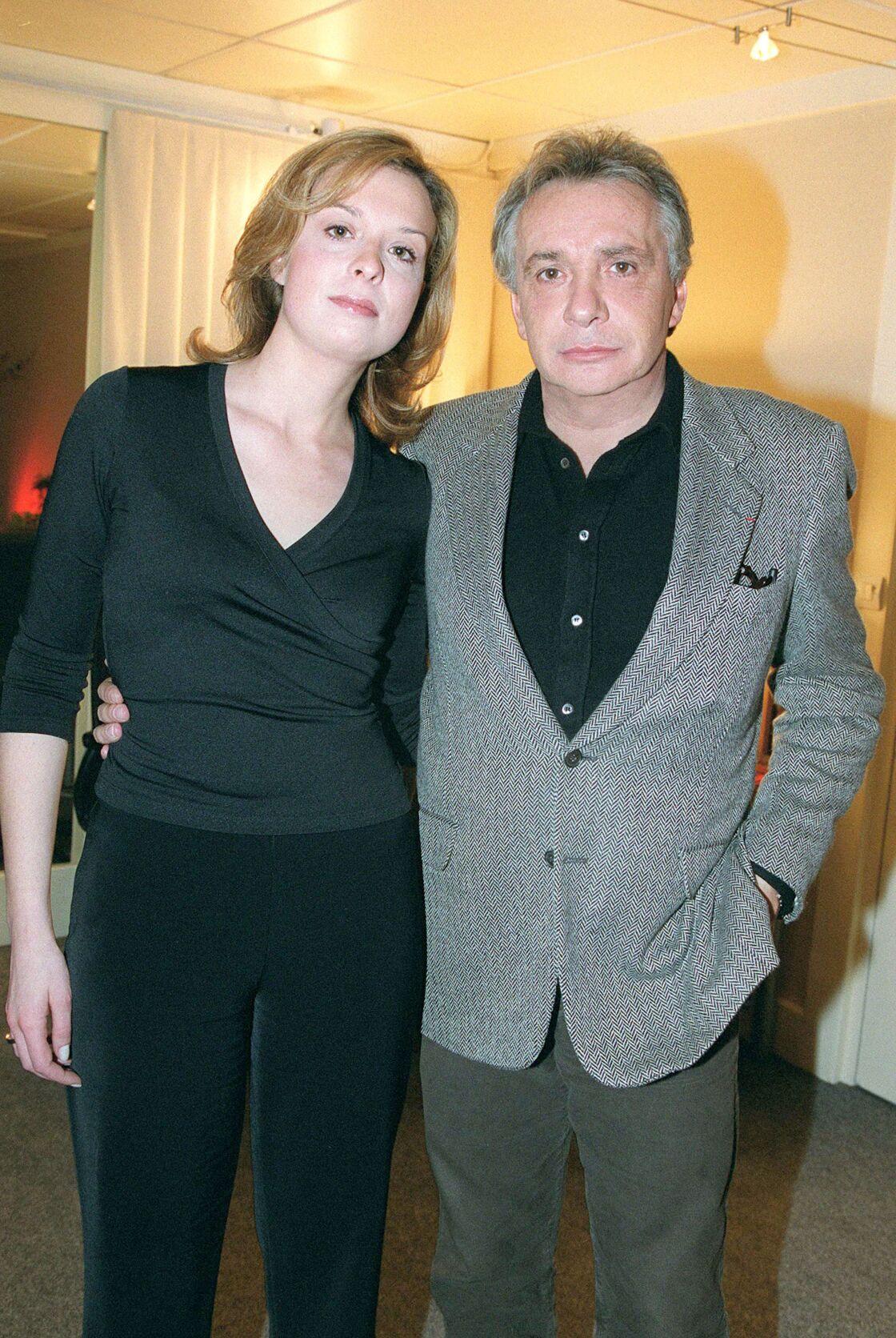 Michel Sardou et sa fille Cynthia Sardou en 2001