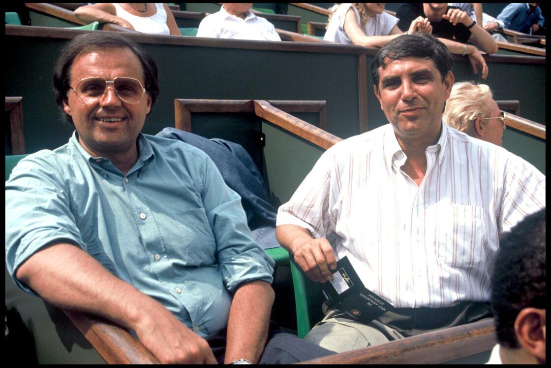 Gérard Louvin et Jean-Pierre Foucault au tournoi de Roland Garros en 1992