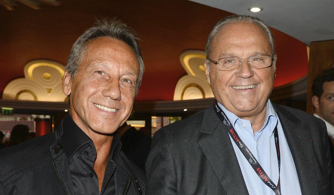 Daniel Moyne, Gérard Louvin - Backstage - Jean-Marie Bigard fête ses 60 ans au Grand Rex à Paris le 23 mai 2014.