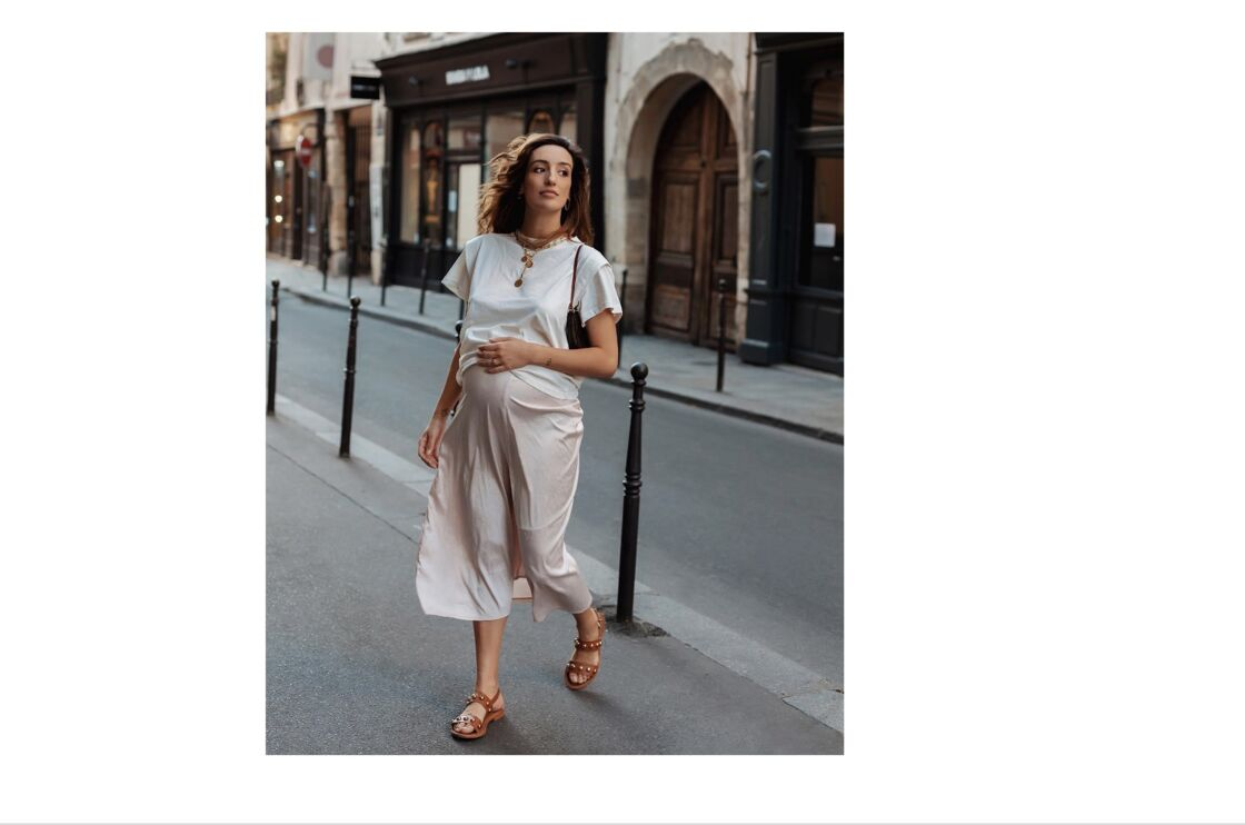 Belle et féminine, l' influenceuse Kenza Sadoun El Glaoui, fondatrice du blog La Revue de Kenza