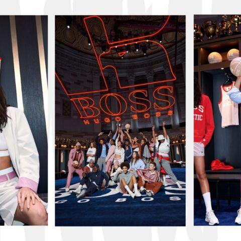 Bella Hadid, Ashley Graham, Precious Lee, réunies au lancement de la collaboration Hugo Boss x Russell Athletic