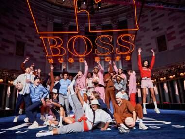 PHOTOS - Hugo Boss x Russell Athletic s'associent pour une collaboration audacieuse avec Bella Hadid et Ashley Graham