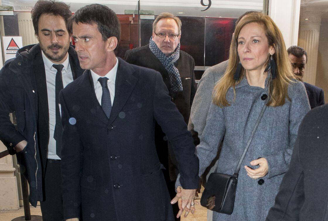 Manuel Valls et Anne Gravoin à Paris le 15 janvier 2017