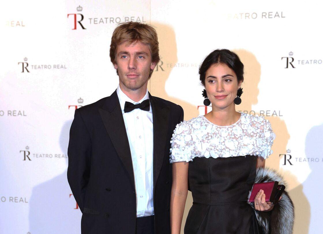 Le prince Christian de Hanovre et sa femme Alessandra de Osma au photocall de la représentation de l'opéra
