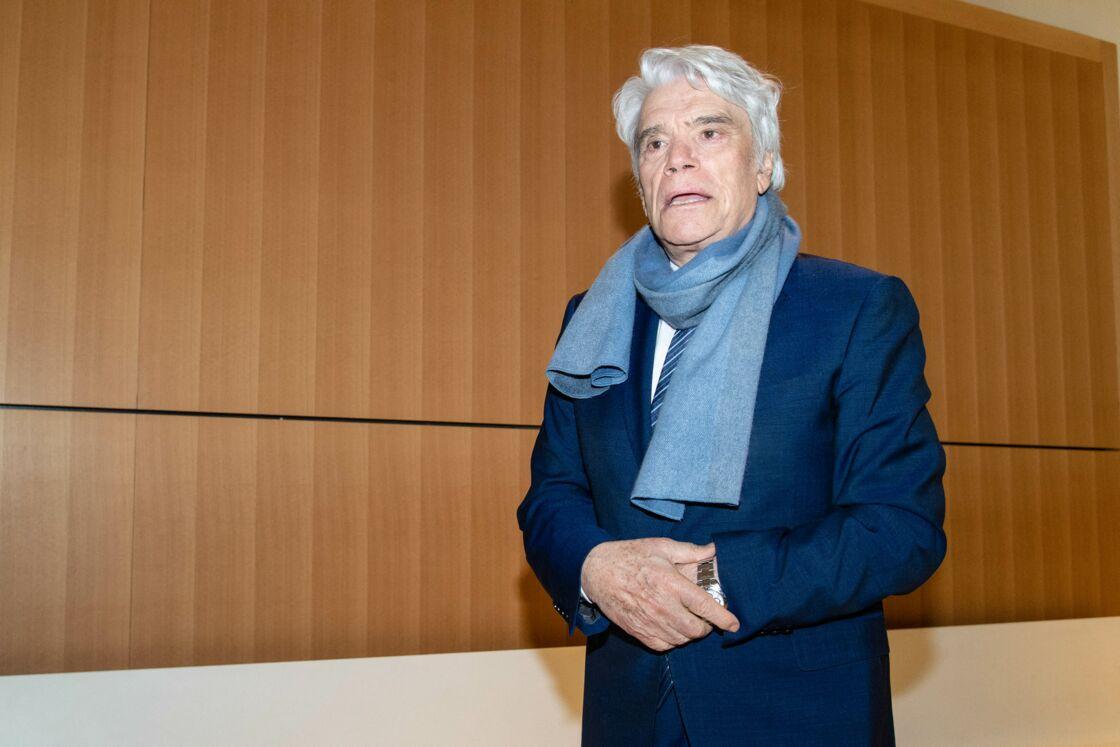 Bernard Tapie à la sortie du Tribunal de Paris, le 4 avril 2019