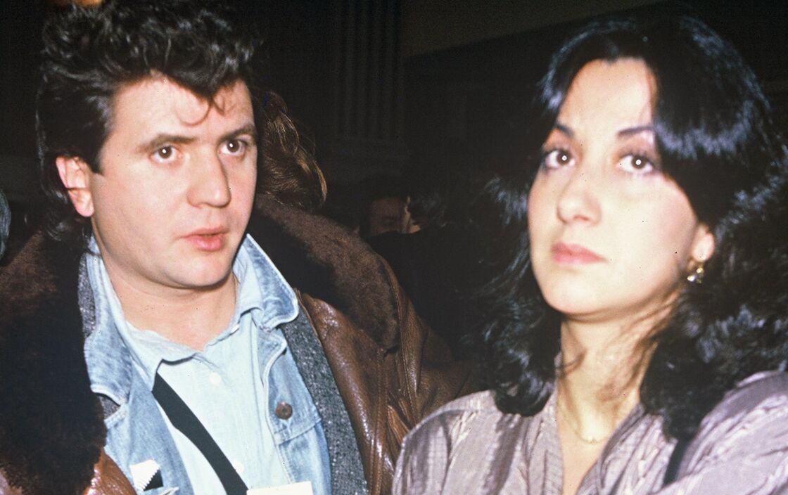 Daniel Balavoine et sa femme Corinne, le 19 décembre 1984