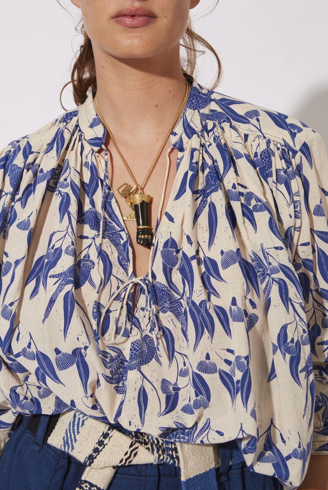 Laurence bras, la blouse luxueuse en teinture naturelle