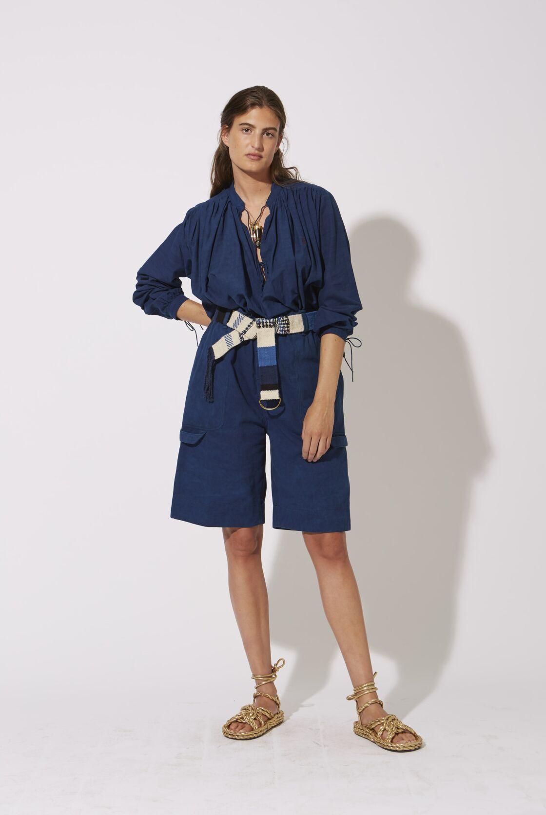 Laurence bras, la blouse en teinture naturelle