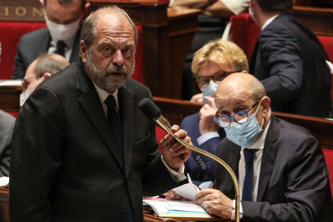 Éric Dupond-Moretti lors d'une séance de questions au gouvernement à l'Assemblée nationale, à Paris, France, le 8 juillet 2020.