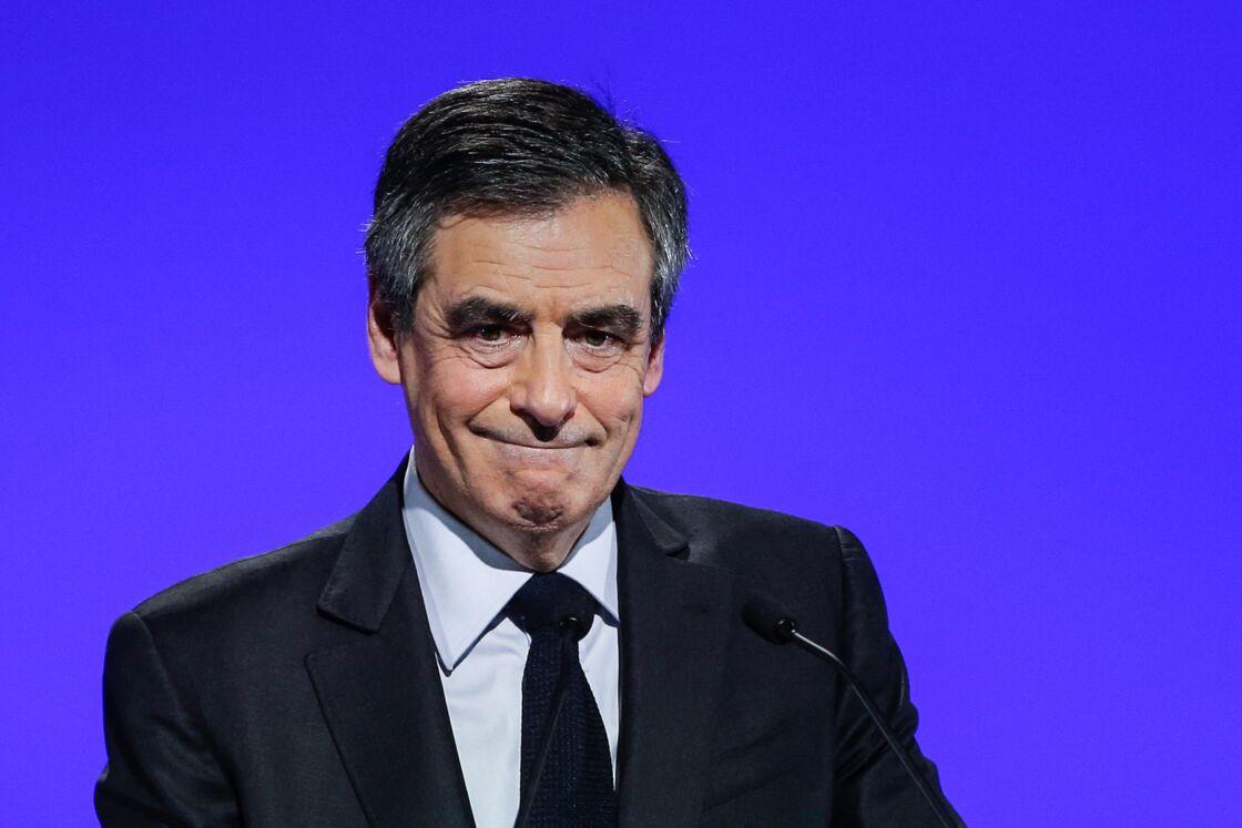 François Fillon, à l'élection présidentielle de 2017, lors de son meeting de campagne au zénith de Toulouse