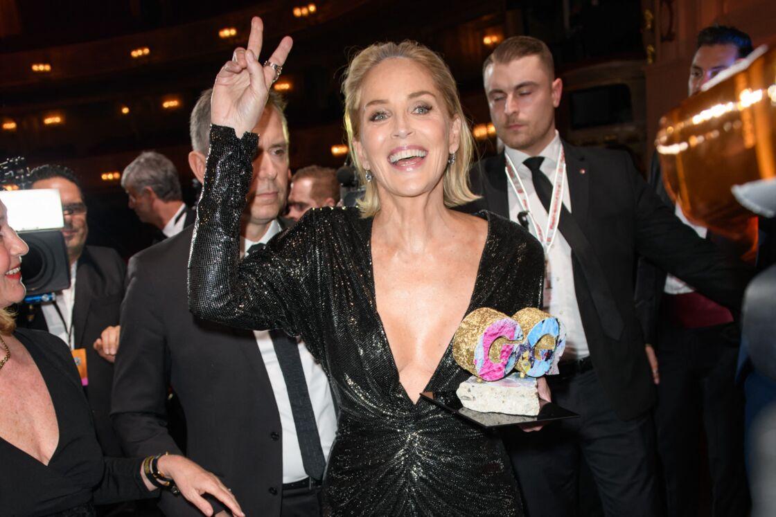 Sharon Stone en novembre 2019 à Berlin, lors des GQ Men of the Year Awards