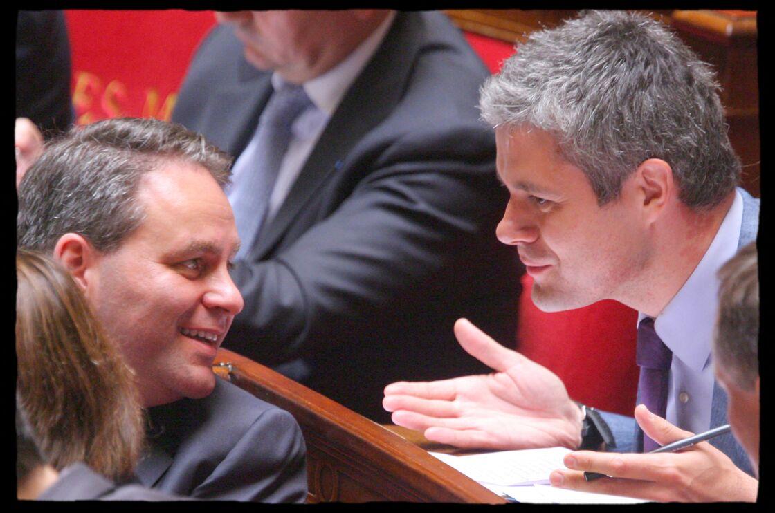 Xavier Bertrand (à gauche) et Laurent Wauquiez lors des questions au gouvernement, l'Assemblée nationale, en juin 2008.