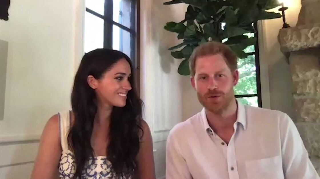 Meghan Markle et Harry lors d'une interview sur le rôle des réseaux sociaux le 25 août 2020