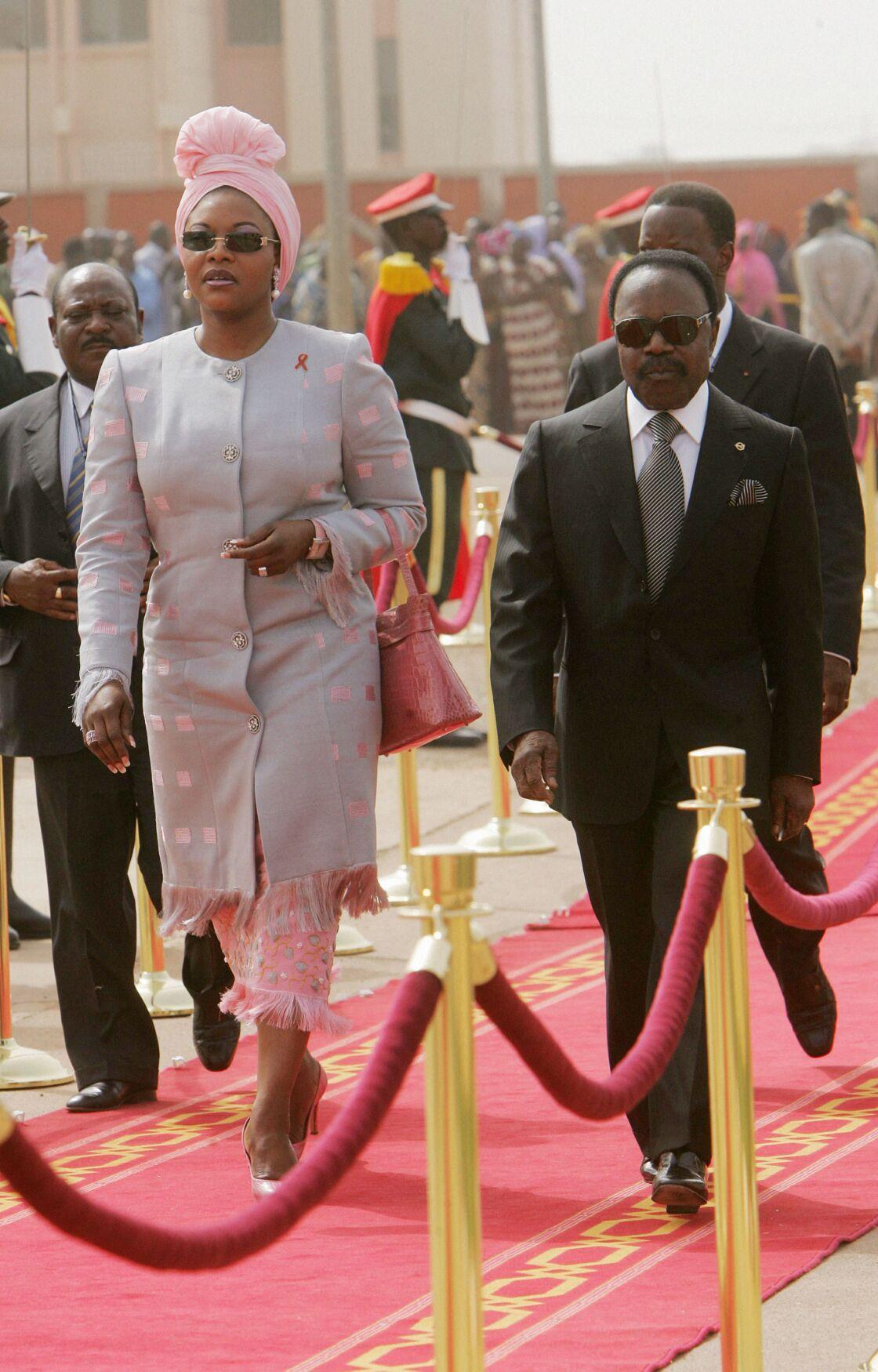 Omar et Edith Bongo en 2004.