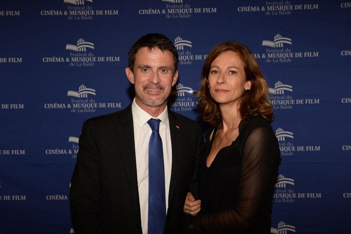 Manuel Valls et son ex-femme Anne Gravoin, lors de la Cérémonie de clôture de la 4ème édition le Festival du Cinéma et Musique de Film de La Baule, le 12 novembre 2017.