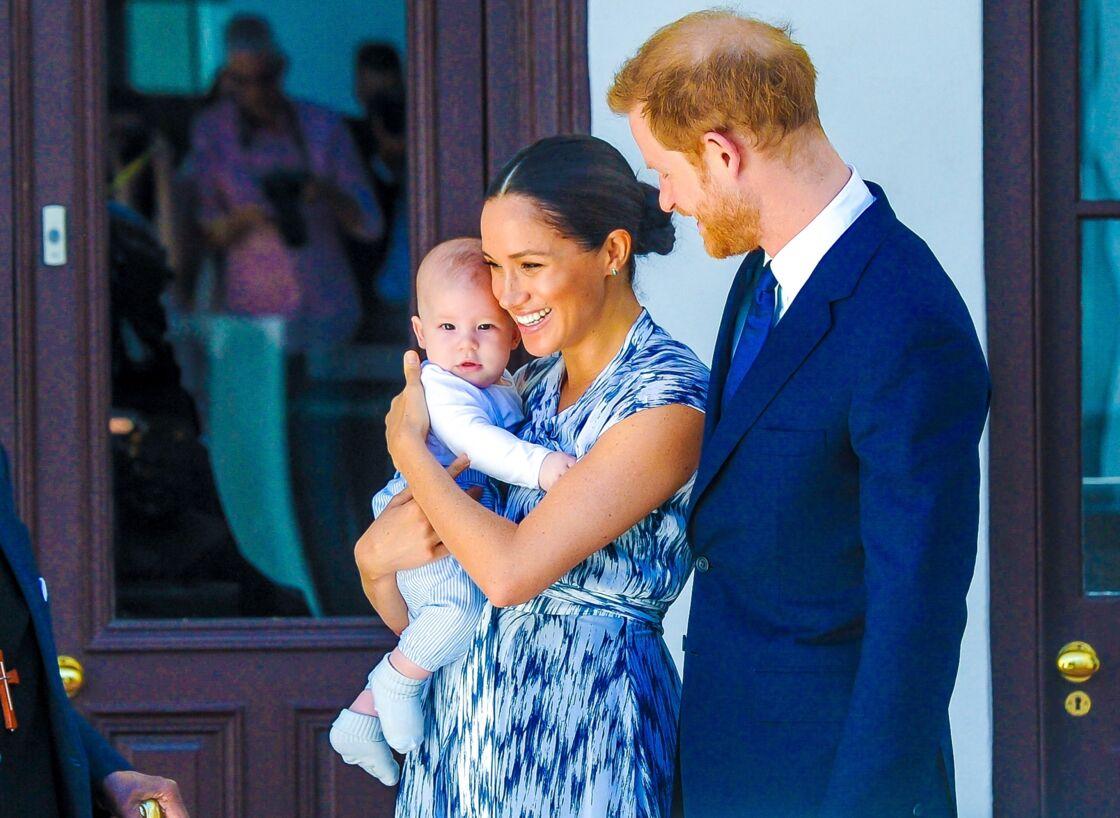 Le prince Harry et Meghan Markle, accompagnés de leur fils Archie, à Cape Town, en Afrique du Sud, le 25 septembre 2019.