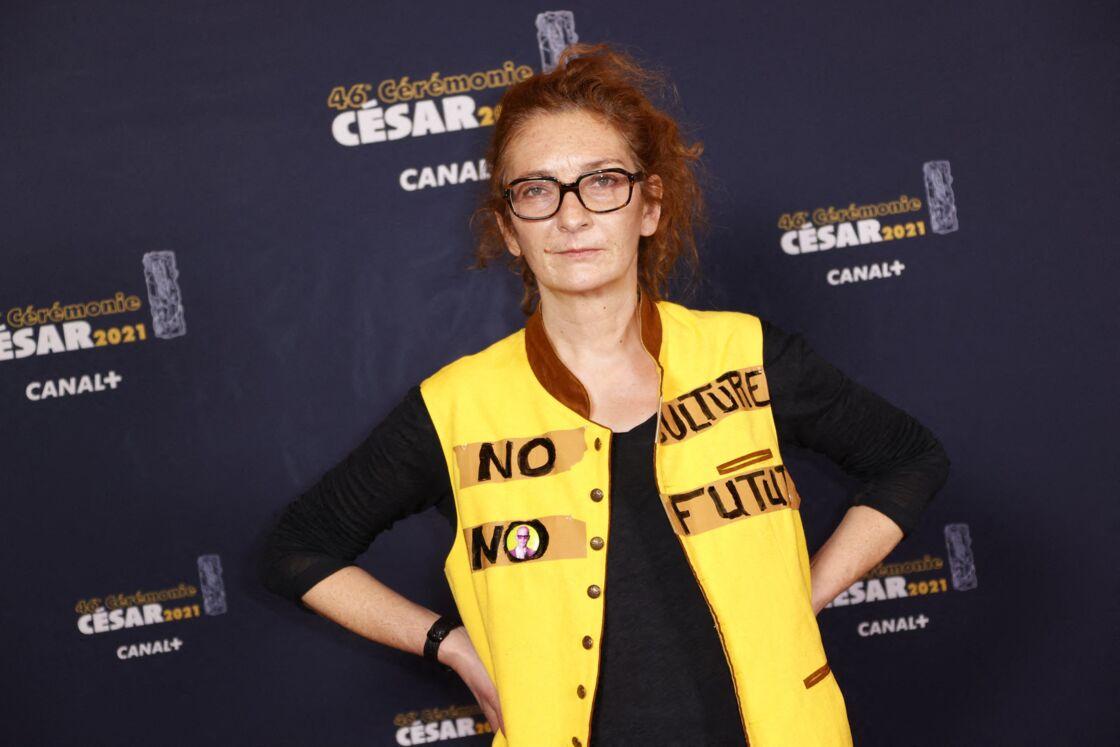 Corinne Masiero lors du photocall lors de la 46ème cérémonie des César à l'Olympia à Paris, France, le 12 mars 2021.
