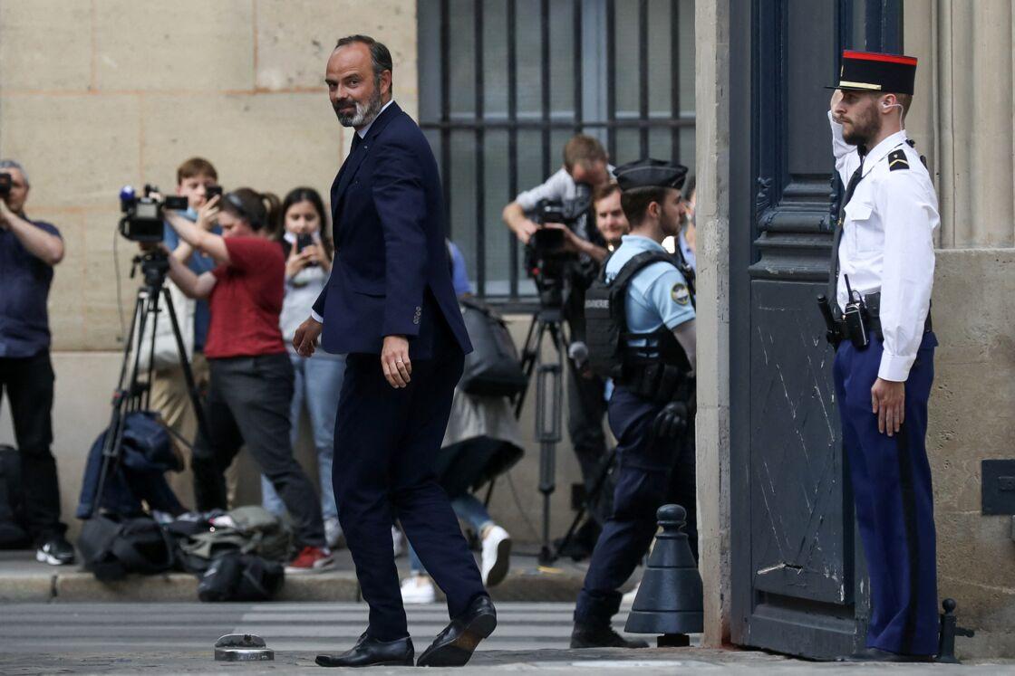 Passation de pouvoir à Matignon entre Edouard Philippe et Jean Castex, nouveau Premier ministre. Paris, le 3 juillet 2020.