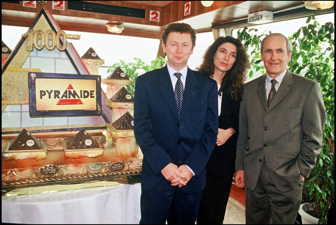 Laurent Broomhead, Marie-Ange Nardi et Patrice Laffont fêtent la 1000e émission Pyramide