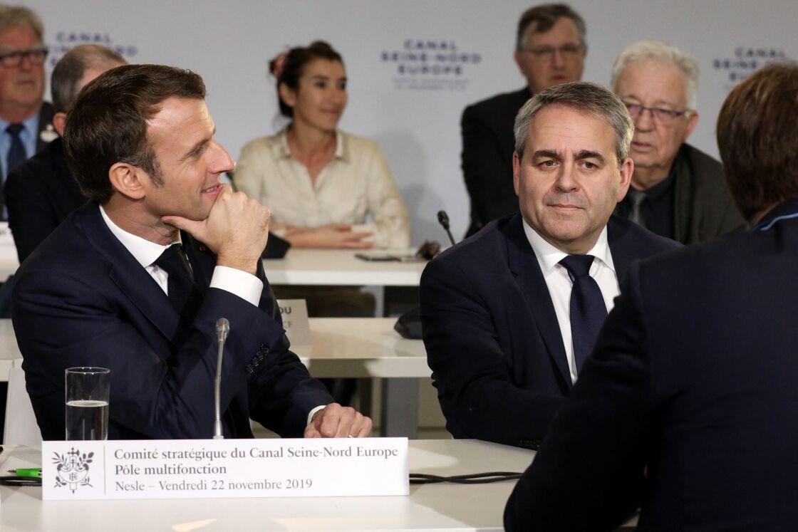 Emmanuel Macron et Xavier Bertrand en novembre 2019