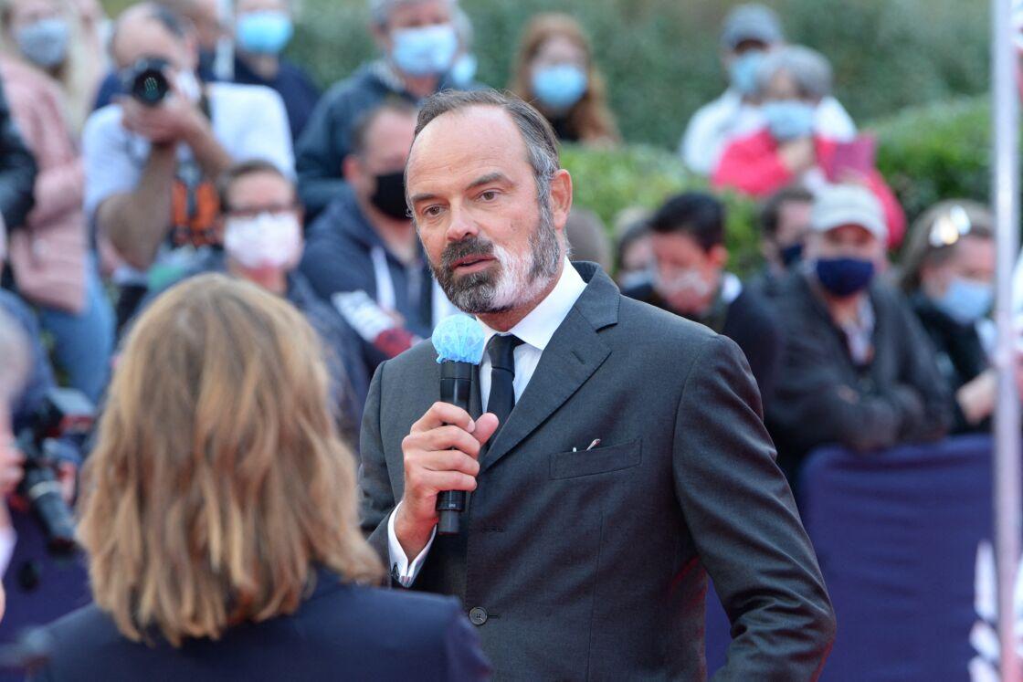 Edouard Philippe sur le tapis rouge de la cérémonie d'ouverture du 46ème Festival du Cinéma Américain de Deauville, le 4 septembre 2020