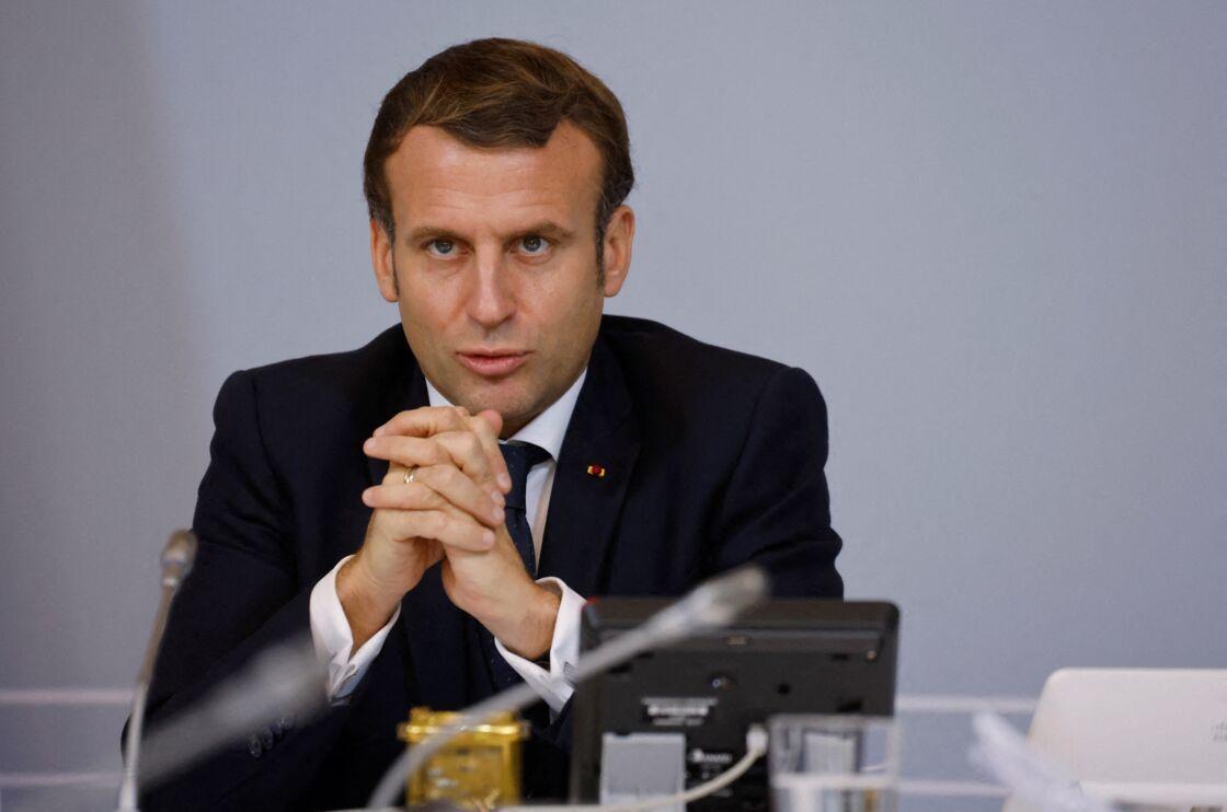 Emmanuel Macron à l'Élysée en novembre 2020