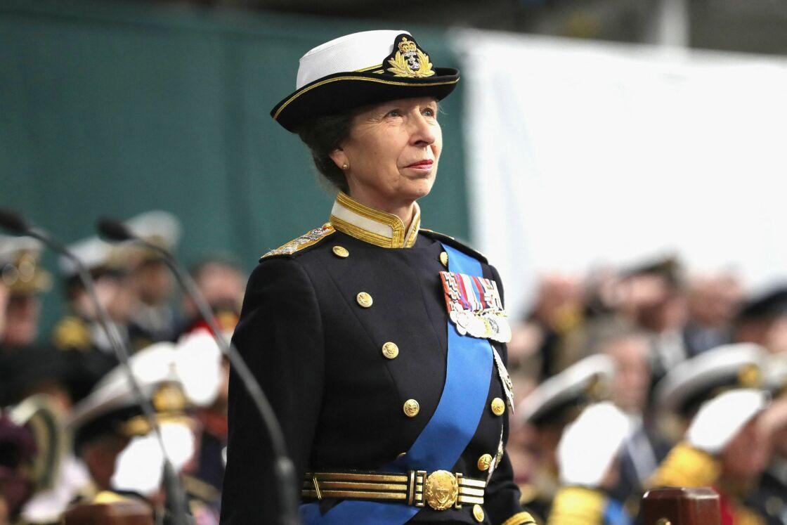 La princesse Anne à Portsmouth en décembre 2017