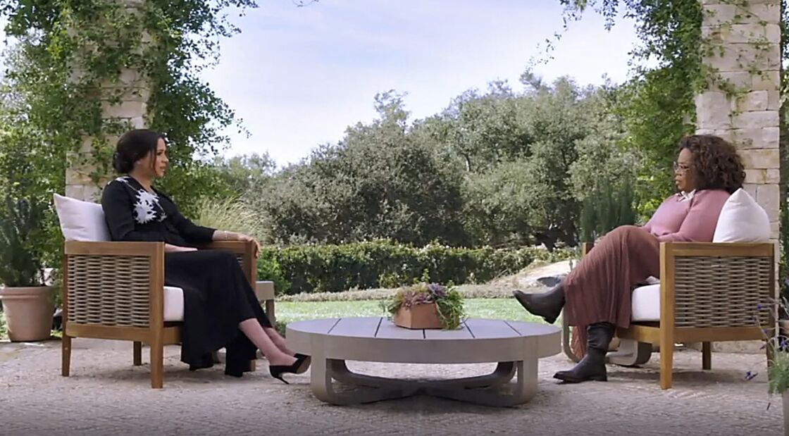 Meghan Markle lors de l'interview avec Oprah Winfrey