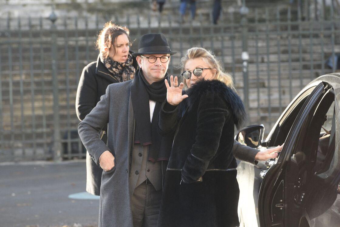 Sheila lors des obsèques de Johnny Hallyday, à Paris, le 9 décembre 2017.