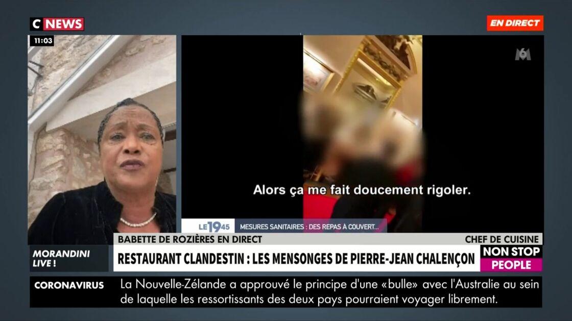Babeth de Rozières indignée, s'exprime sur la polémique au sujet de Pierre-Jean Chalençon sur CNews ce mardi 6 avril
