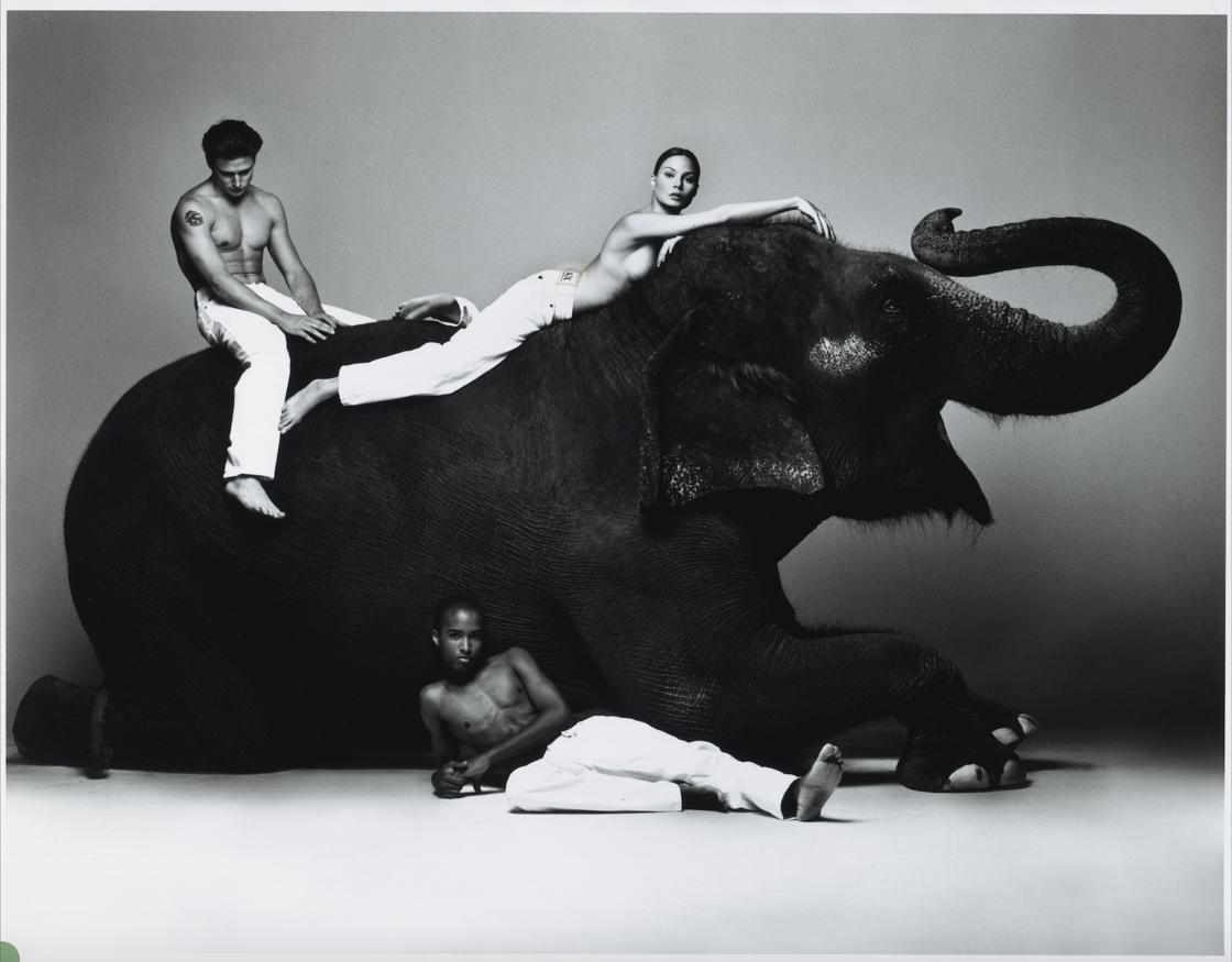 Campagne historique Armani Exchange du printemps-Eté 1995, photo de Michel Comte