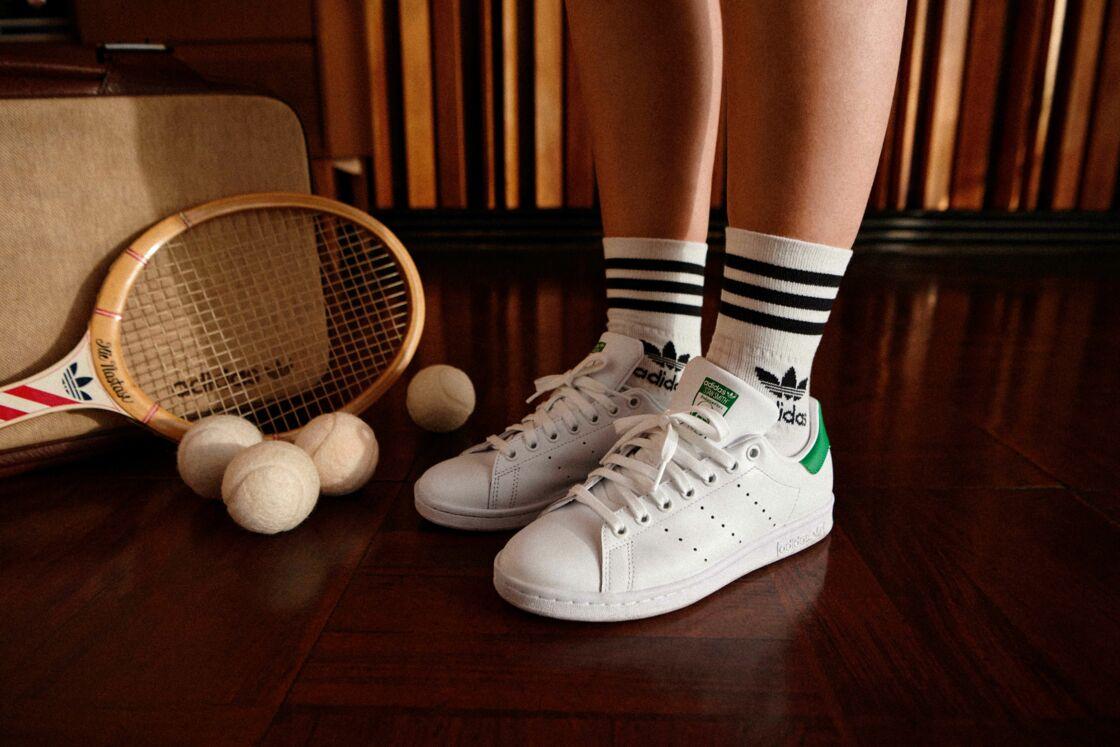 La nouvelle Stan Smith écoresponsable issue de la collaboration Zalando x Adidas est portée par Léna Simone