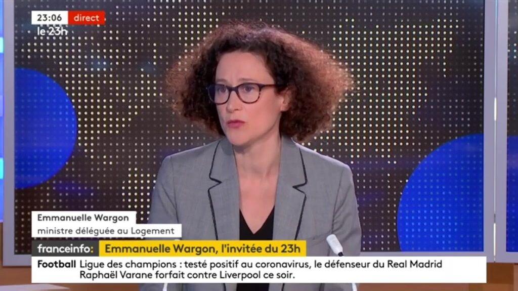 Emmanuel Wargon, invitée du 23h de France Info ce mardi 6 avril, s'exprime sur la polémique des dîners clandestins à Paris